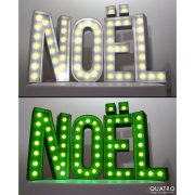 Lettres Noël blanc et vert