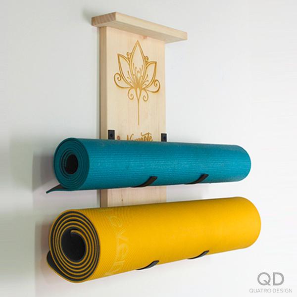Support pour tapis de yoga